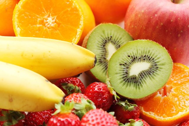 スイーツの食材バナナオレンジキウイイチゴ