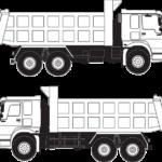 2台のトラック