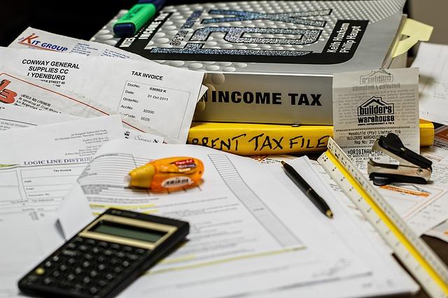 税理士事務所の税務関連書類