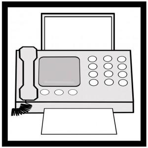 fax受信中