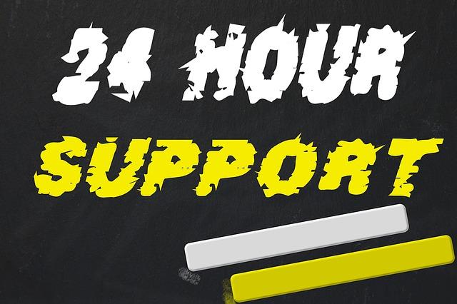 24時間サポートポスター